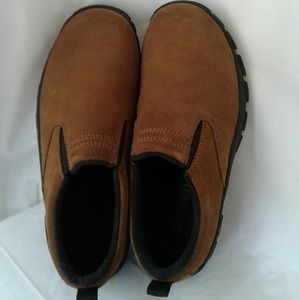 Lands End Brown Suede Mules Loafers 6